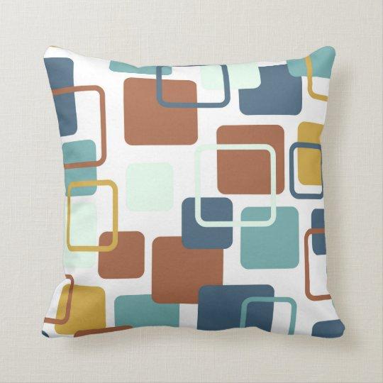 Modern Eames Rectangles 6 Throw Pillow