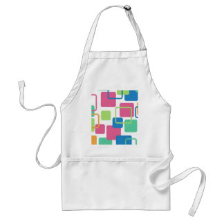 Modern Eames Rectangles 7 Adult Apron