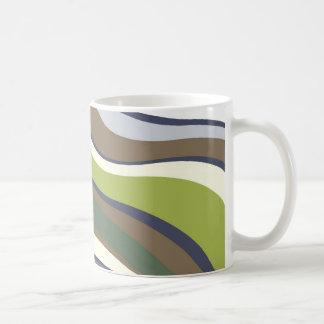 Modern Eames Waves 6 Coffee Mugs