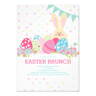 Modern Easter Brunch Dinner Party Invitation