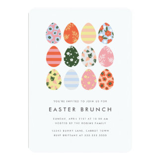 Modern Easter Eggs Card