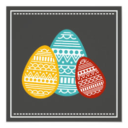 Modern Easter Eggs Custom Greeting Minimalist Card