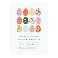 Modern Easter Eggs Invitation