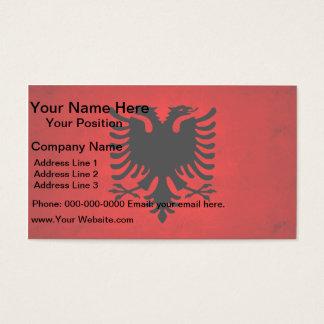 Modern Edgy Albanian Flag Business Card