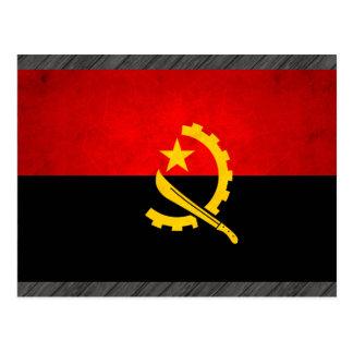 Modern Edgy Angolan Flag Postcard