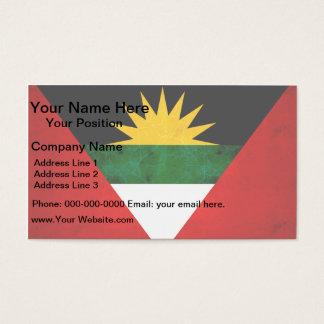 Modern Edgy Antiguan Flag Business Card