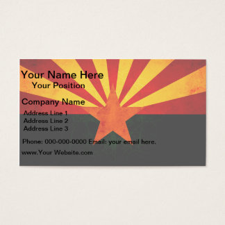 Modern Edgy Arizonan Flag Business Card