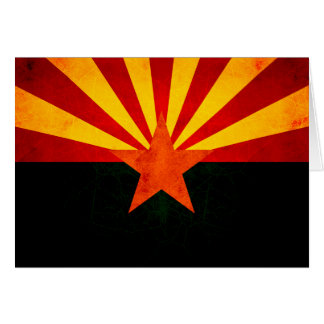 Modern Edgy Arizonan Flag Cards