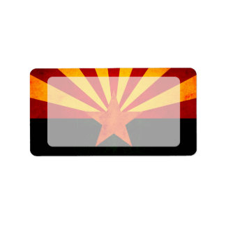 Modern Edgy Arizonan Flag Personalized Address Labels