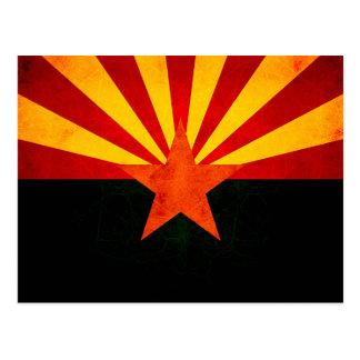 Modern Edgy Arizonan Flag Post Card