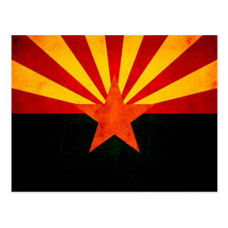 Modern Edgy Arizonan Flag Postcard