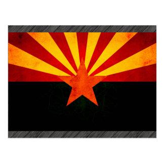 Modern Edgy Arizonan Flag Postcard