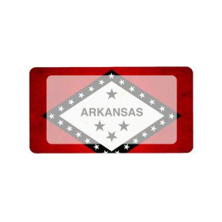 Modern Edgy Arkansan Flag Label