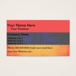 Modern Edgy Armenian Flag Business Card