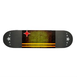 Modern Edgy Aruban Flag Skateboard