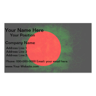 Modern Edgy Bangladeshi Flag Double-Sided Standard Business Cards (Pack Of 100)