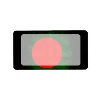 Modern Edgy Bangladeshi Flag Label