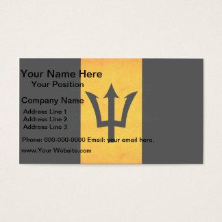Modern Edgy Barbadian Flag Business Card