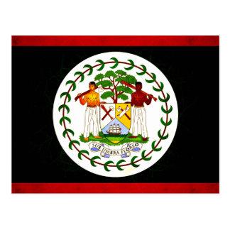 Modern Edgy Belizean Flag Postcards