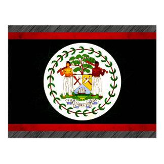 Modern Edgy Belizean Flag Postcard