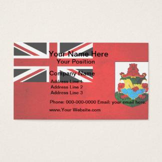 Modern Edgy Bermudan Flag Business Card