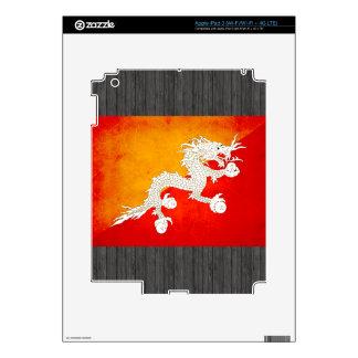 Modern Edgy Bhutanese Flag iPad 3 Skins