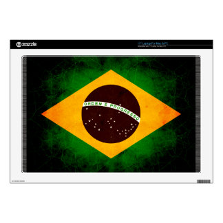 Modern Edgy Brazilian Flag Laptop Decal