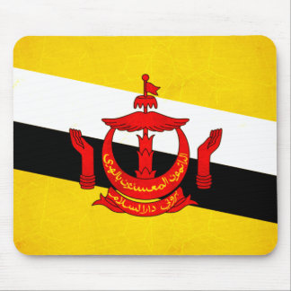 Modern Edgy Brunean Flag Mouse Pad