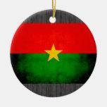 Modern Edgy Burkinabe Flag Ornament