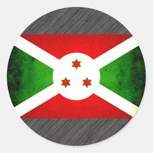 Modern Edgy Burundian Flag Sticker
