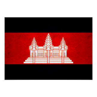 Modern Edgy Cambodian Flag Posters