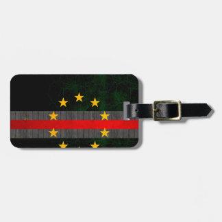 Modern Edgy Cape Verdian Flag Luggage Tag