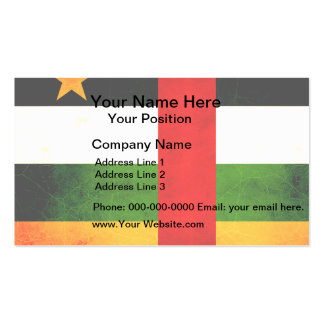 Modern Edgy Central African Flag Business Card