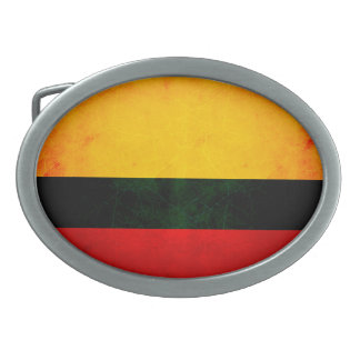 Modern Edgy Colombian Flag Oval Belt Buckles