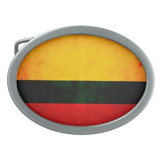 Modern Edgy Colombian Flag Oval Belt Buckle