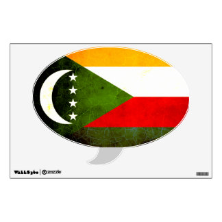 Modern Edgy Comoran Flag Wall Decal