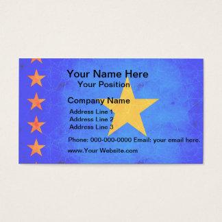 Modern Edgy Congese Flag Business Card