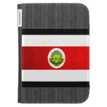 Modern Edgy Costa Rican Flag Kindle Keyboard Covers