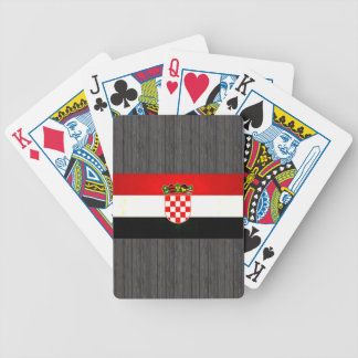 Modern Edgy Croatian Flag Bicycle Playing Cards
