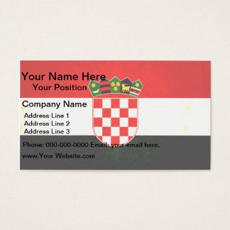 Modern Edgy Croatian Flag Business Card