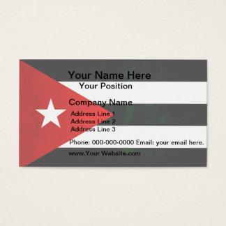 Modern Edgy Cuban Flag Business Card