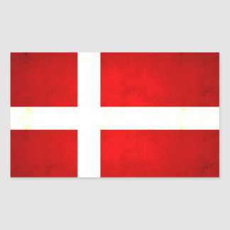 Modern Edgy Danish Flag Sticker