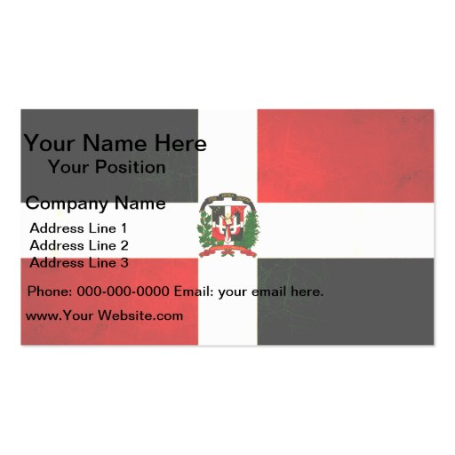 Modern edgy dominican flag business card zazzle for Edgy business cards