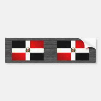 Modern Edgy Dominican Flag Car Bumper Sticker