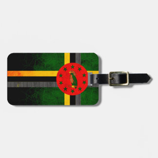 Modern Edgy Dominican Flag Luggage Tag