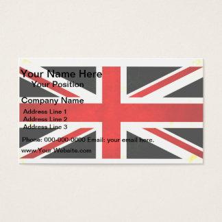 Modern Edgy English Flag Business Card