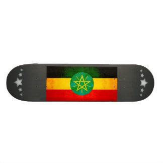 Modern Edgy Ethiopian Flag Custom Skate Board