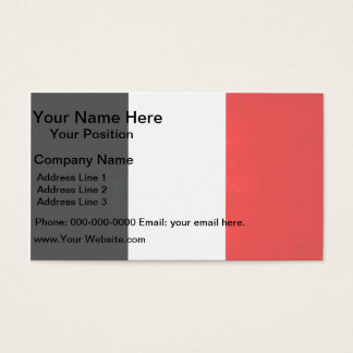 Modern Edgy French Flag Business Card