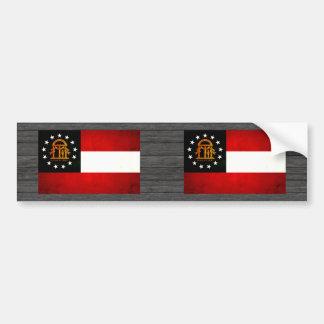 Modern Edgy Georgian Flag Bumper Stickers