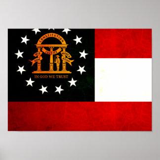 Modern Edgy Georgian Flag Poster